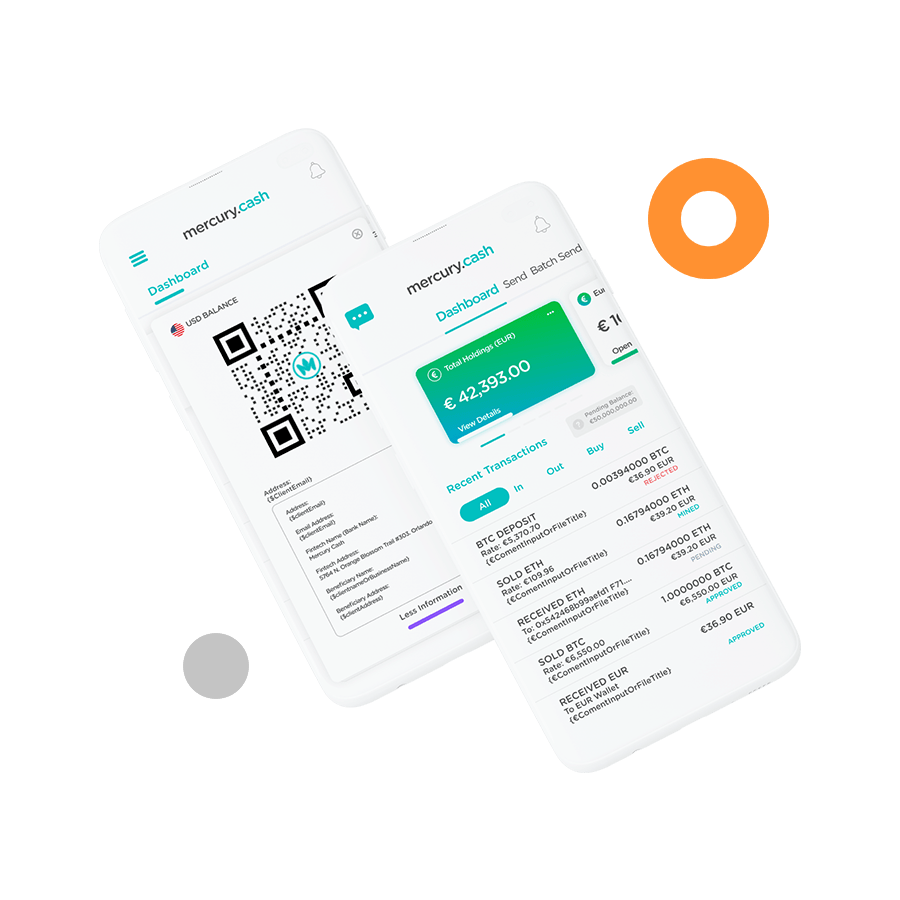 The Mercury Cash digital wallet allows you to access all the functions of traditional banking and crypto banking in one place .